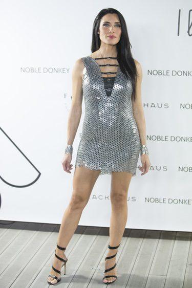 Pilar Rubio en un acto de la firma Noble Donkey