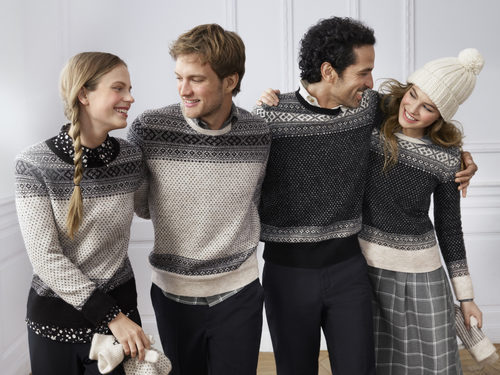 Línea de ropa masculina y femenina con estampados nórdicos en la colección de Uniqlo temporada otoño/invierno 2017 diseñado por Ines de la Fressange