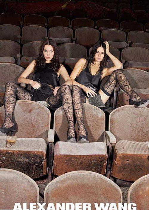 Bella Hadid y Kendall Jenner en la campaña de otoño 2017 de Alexander Wang