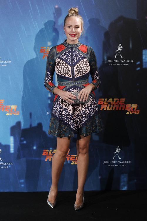 La actriz española Esmeralda Moya en la premier de la película Blade Runner 2049