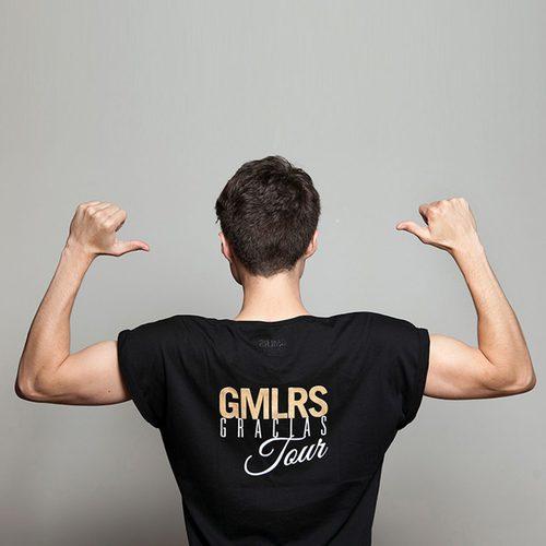 Camiseta negra de la propia colección de Gemeliers
