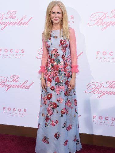Nicole Kidman vestida de Carolina Herrera en el estreno de 'El seductor'