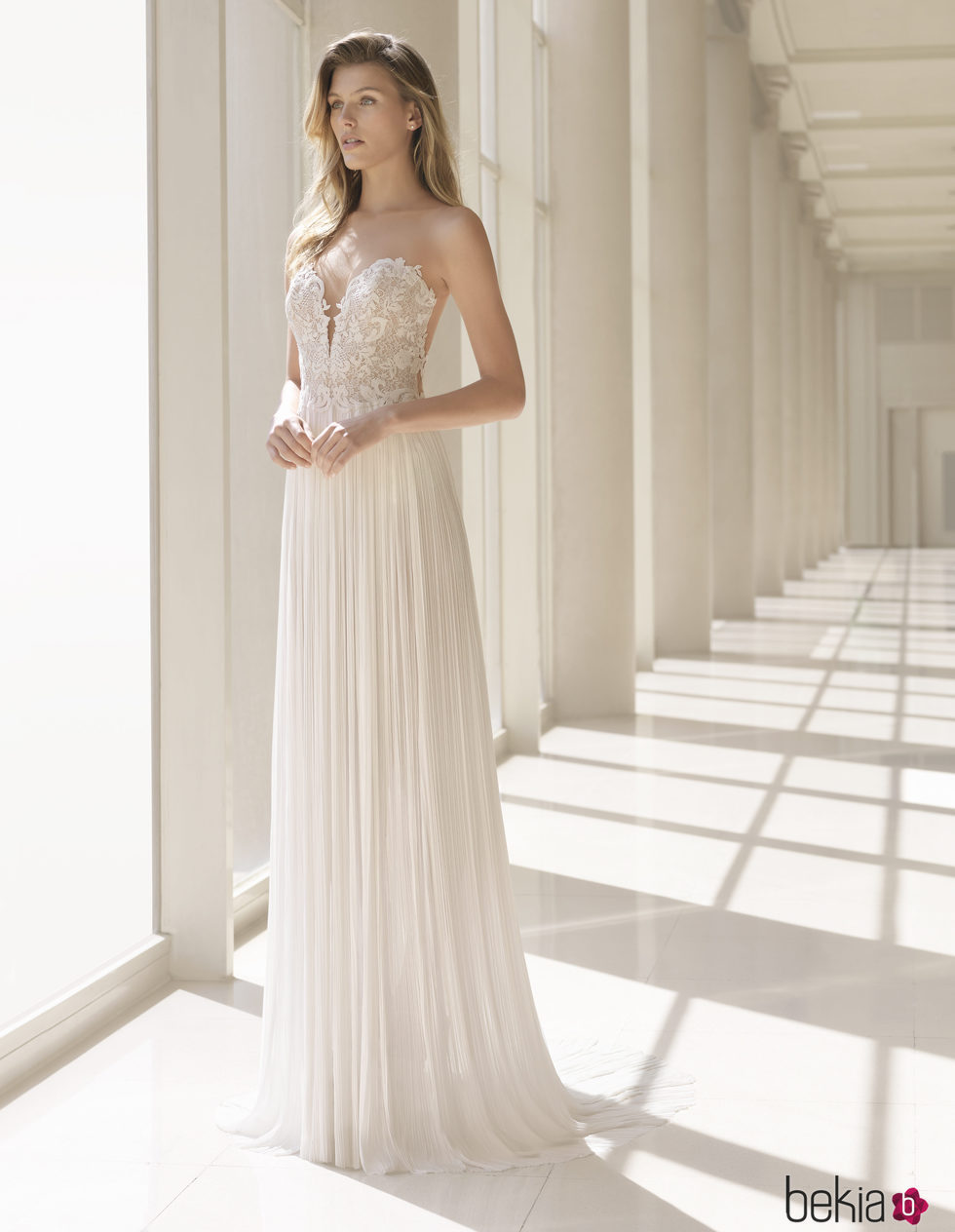 Vestidos de novia nueva coleccion rosa clara