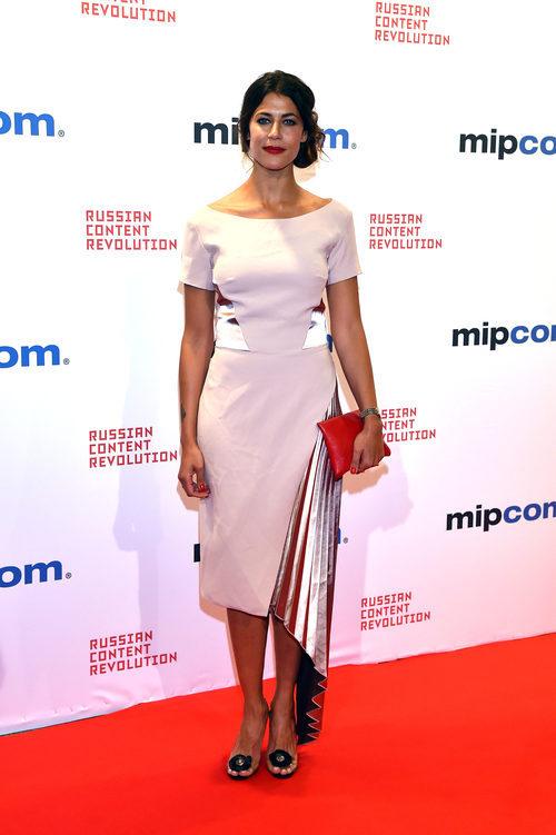 Karima Adebibe en el festival MIPCOM de Cannes 2017