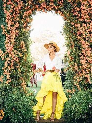 Lovely Pepa con un conjunto de falda asimétrica en 8º anuario de la gala Veuve Cliquot Polo Classic