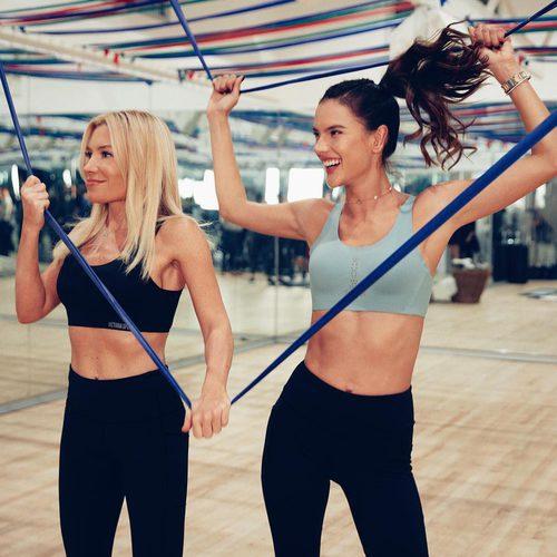 Alessandra Ambrosio entrenando con Tracy Anderson en Nueva York