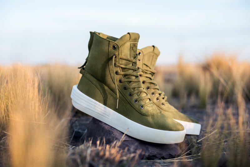 Zapatillas verde oliva de la colección 'Puma x Xo Parallel' diseñadas por The Weeknd