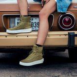 Zapatillas verdes de la campaña del segundo lanzamiento 'Puma x Xo' de The Weeknd