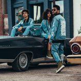 Conjunto denim del segundo lanzamiento de 'Puma x Xo' de The Weeknd