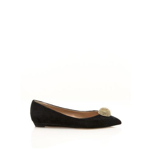 Zapato de terciopelo negro de la colección cápsula especial noche de HANNIBAL LAGUNA SHOES