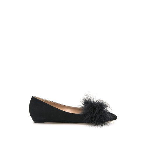 Zapato negro de terciopelo de la colección cápsula especial noche de HANNIBAL LAGUNA SHOES
