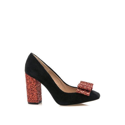 Zapato negro y rojo de la colección cápsula especial noche de HANNIBAL LAGUNA SHOES