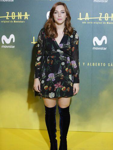 La actriz Natalia Rodríguez en la premiere de la serie 'La zona' en Madrid