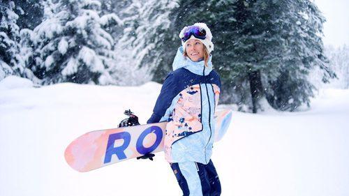 Conjunto para la nieve en tonos rosas y azules claros de la colección 'Snow 2017' de Roxy