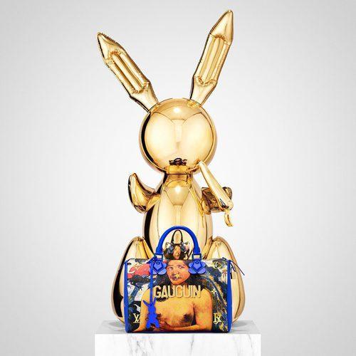 Conejo de Jeff Koons y bolso GAUGUIN de la colección '#LVxKoons'