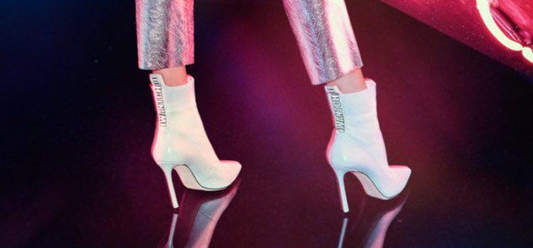 Botín calcetín blanco de la colección 'I Want Choo' de Jimmy Choo