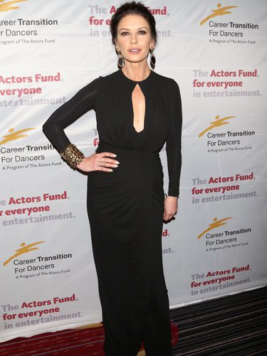 Catherine Zeta-Jones en una gala solidaria en la ciudad de Nueva York