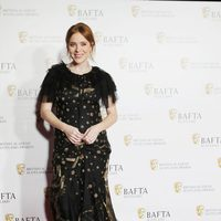 Angela Scanlon posando en los premios BAFTA escoceses