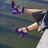 Sandalias de tacón de la colección de Uterqüe con Gilda Ambrosio