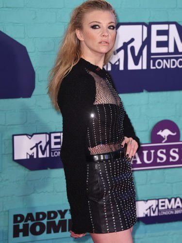 Natalie Dormer con look 'total black' en los MTV EMA 2017