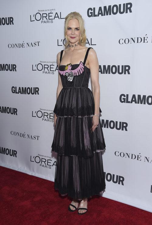 Nicole Kidman con vestido de Christian Dior en los Premios Glamour Women of the Year 2017
