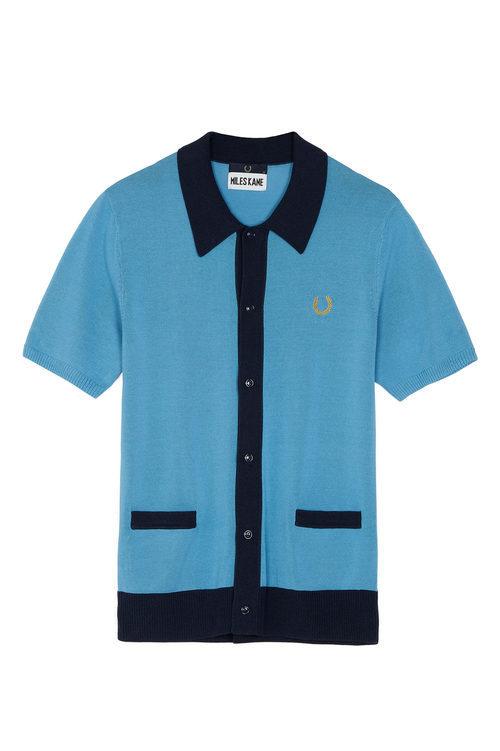 Camisa 'knitted shirt' de la colección cápsula 'Fred Perry x Miles Kane'