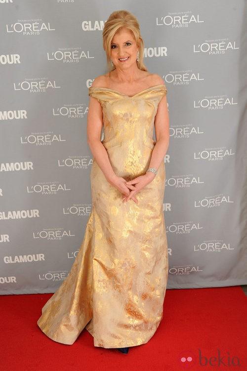Look de Arianna Huffington en el premio Glamour a la Mujer del Año