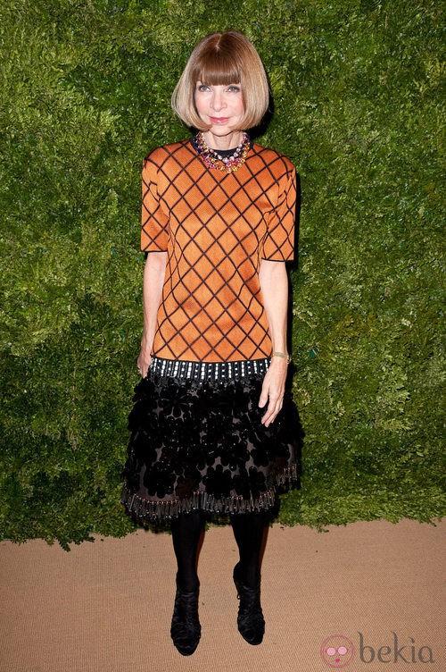 Look de Anna Wintour en la fiesta de Vogue en Nueva York