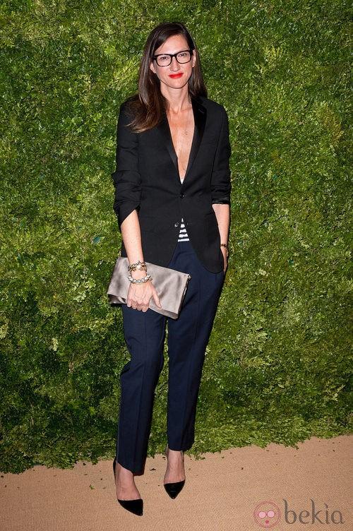 Look de Jenna Lyons en la fiesta de Vogue en Nueva York