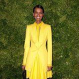 Look de Liya Kebede en la fiesta de Vogue en Nueva York