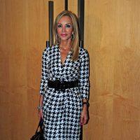 Carmen Lomana con el vestido de Salvatore Ferragamo