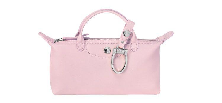 Bolso pequeño rosa de la colección de Mr Bags para Longchamp