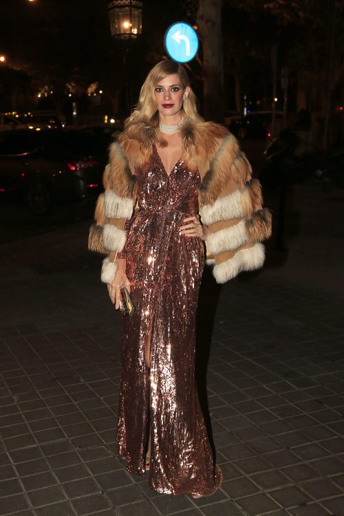 Teresa Baca en la entrada de los premios Vanity Fair 2017 celebrados en Madrid