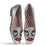 Manoletinas en tonos metalizados de la colección cápsula Tod's circus diseñada por Anna Dello Russo