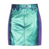 Minifalda azul metalizada de la colección 'Partying' de Pull&Bear