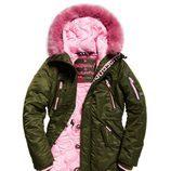 Parka verde femenina de Superdry de la colección otoño/invierno 2017