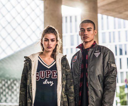 Abrigo masculino y femenino de Superdry de la colección otoño/invierno 2017