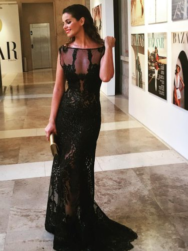 Marta Torné con un vestido de Gabriel Lage en la fiesta de Harper's Bazaar