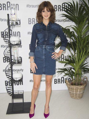 Clara Lago posando como nueva imagen de la firma Braun