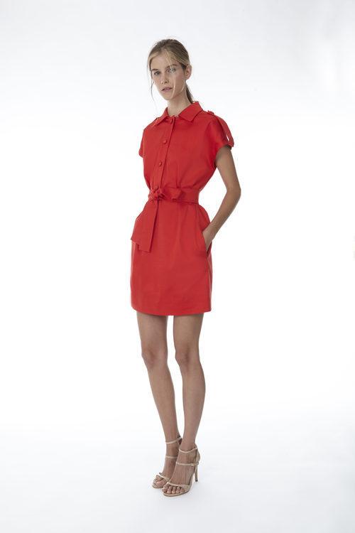 Vestido mini en color rojo de la colección 'Resort 18' de '2ND LAB by The 2nd Skin Co'
