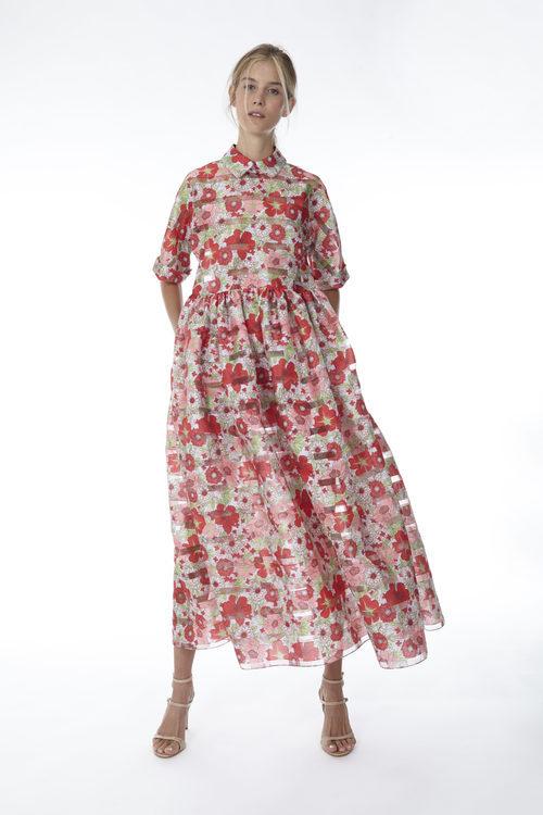 Vestido midi con print floral de la colección 'Resort 18' de '2ND LAB by The 2nd Skin Co'