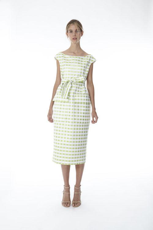 Vestido midi de cuadros vichy de la colección 'Resort 18' de '2ND LAB by The 2nd Skin Co'