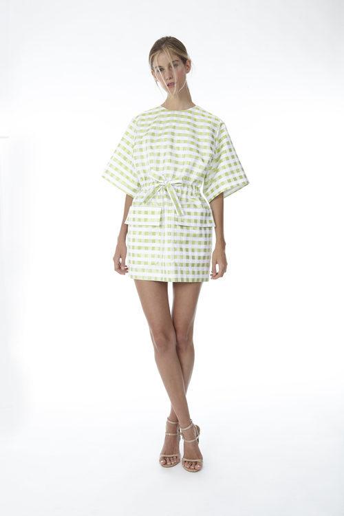 Vestido mini con cuadros vichy de la colección 'Resort 18' de '2ND LAB by The 2nd Skin Co'