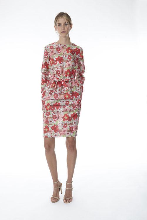 Vestido midi de tubo con prit floral de la colección 'Resort 18' de '2ND LAB by The 2nd Skin Co'