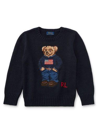 Jersey de niño con detalle de oso de la selección de prendas de navidad de Ralph Lauren Childrenswear