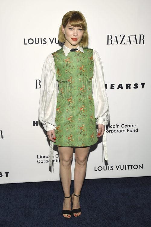 Lea Seydoux en la gala en homenaje al diseñador Louis Vuitton en Nueva York