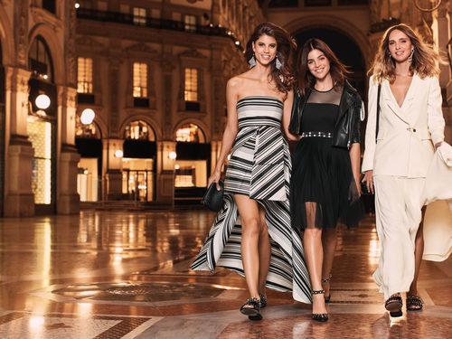 Antonina Petkovic, Candela Pelizza y Julia Restoin Roitfeld con la colección de Liu Jo para primavera/verano 2018