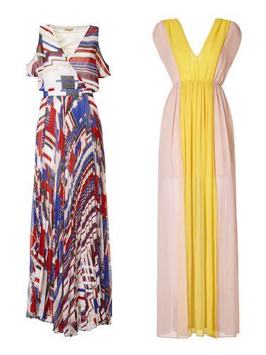 Vestido largo bicolor de la colección Liu Jo para primavera/verano 2018