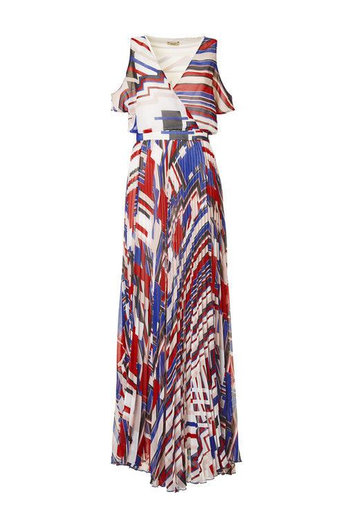 Vestido largo estampado de la colección Liu Jo para primavera/verano 2018