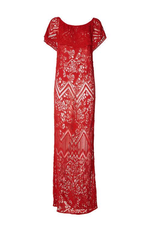 Vestido largo de encaje de la colección Liu Jo para primavera/verano 2018